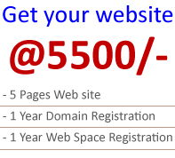 Web site Design @ 3500/-